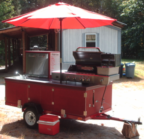 A Big E Z Built Hot Dog Cart And A Great Plan Hot Dog