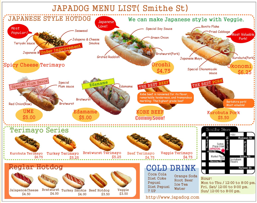 Hot Dog Diet Menu