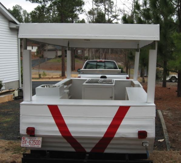 Sweet Pop Up Trailer Hot Dog Cart Conversion Hot Dog Cart