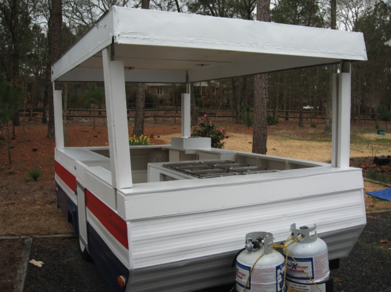 Sweet pop up trailer hot dog cart conversion hot dog cart