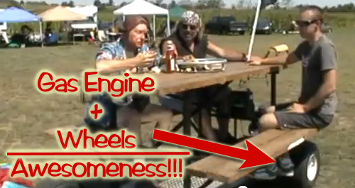 How To Build A Gas Powered Picnic Table