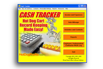 Hot Dog Cash Tracker Bookkeeping Software