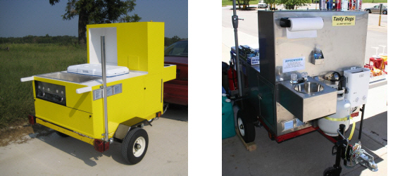 Hot Dog Cart Waste Water Tank