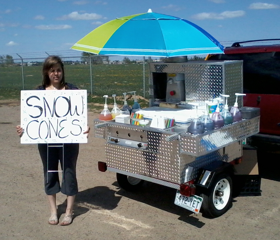 click the pictures for a larger version - Snow Cone Machine For Sale