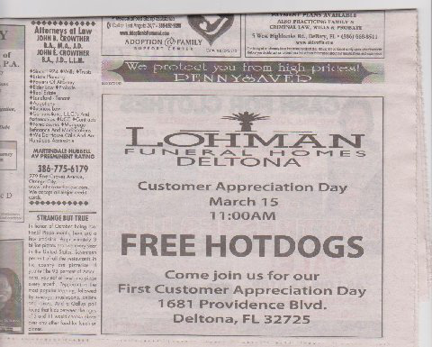 Funeral home hot dogs