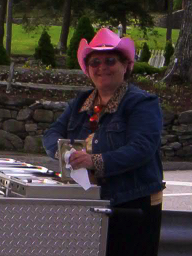 take out orders at hot dog cart