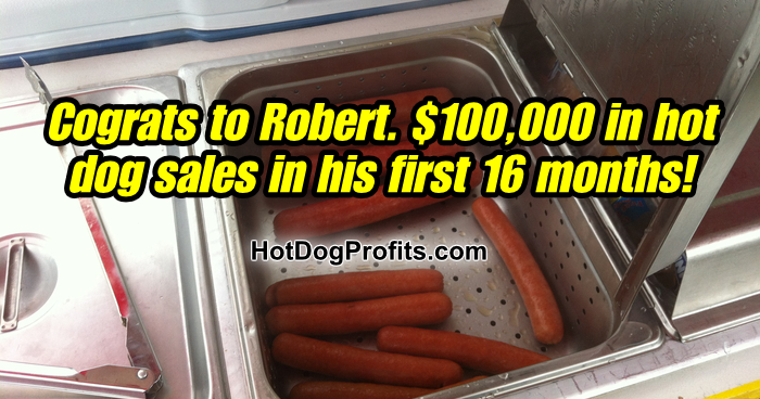 How much money can you make with a hot dog cart?