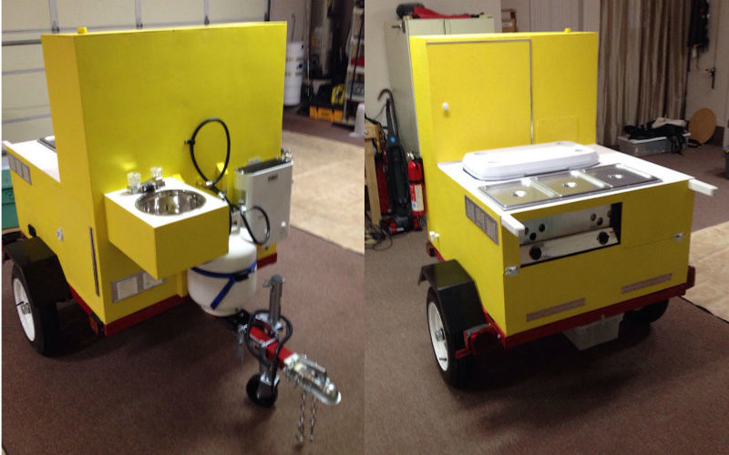 Dales EZ Built Hot Dog Cart