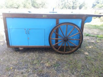 used hot dog cart for sale with wooden wheels
