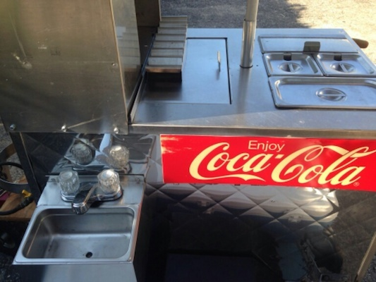used hot dog cart