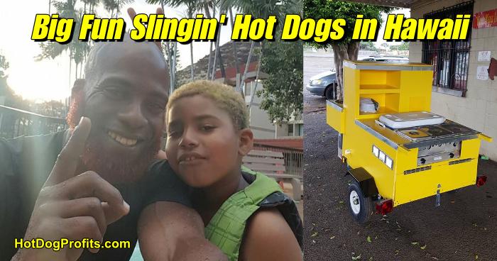 hot dog cart in Hawaii