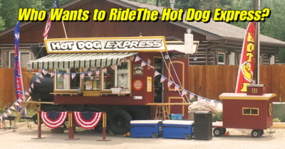 Steam Train Hot Dog Concession Trailer