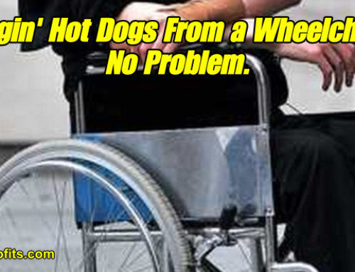 Wheelchair Hot Dog Cart? Heck Yes!