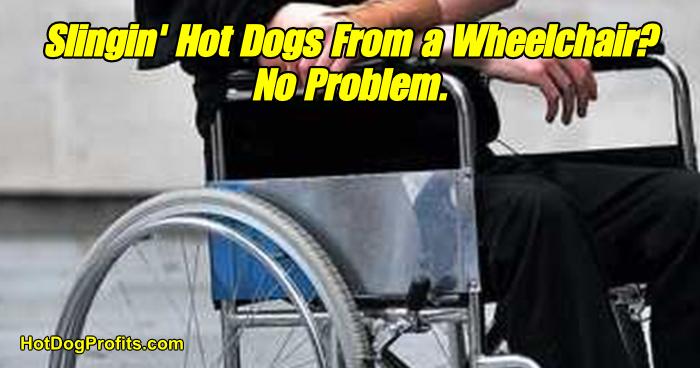 Wheelchair Hot Dog Cart