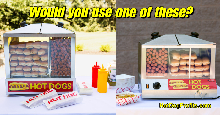 Hot Dog Cart Steamer