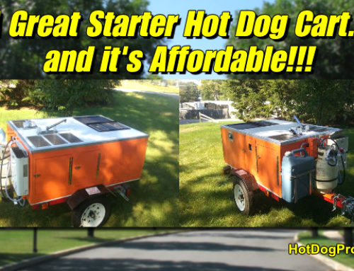 Check Out Don's Bright ORANGE Hot Dog Cart.