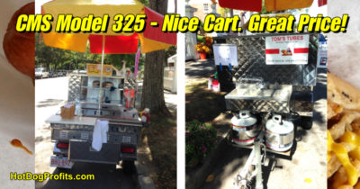 Used CMS 325 hot dog cart for sale