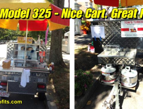 Nice used CMS Model 325 Hot Dog Cart. Save $2800!