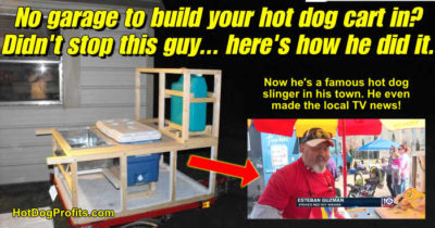 how to build a hot dog cart outside