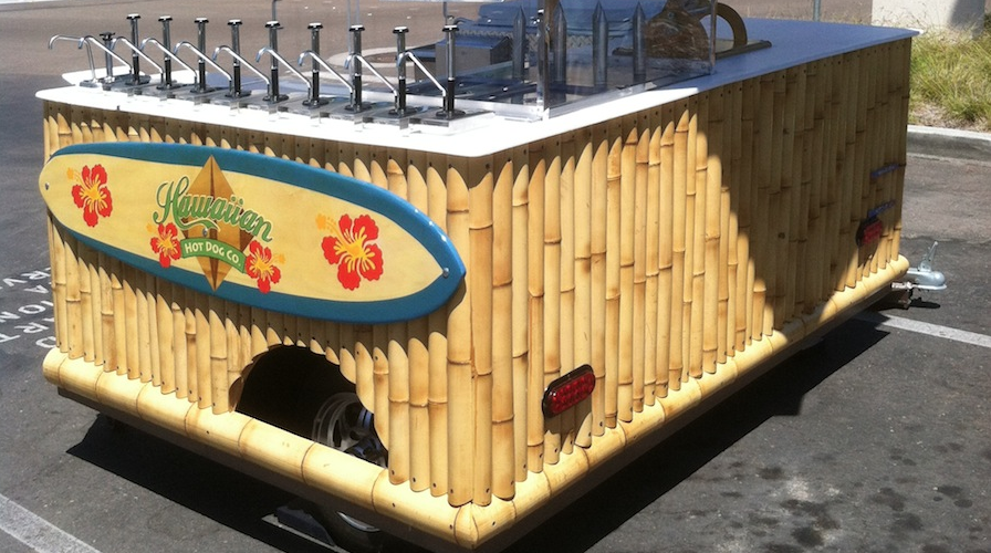Hawaiian Hot Dog Cart