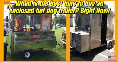 enclosed hot dog cart for sale