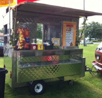 enclosed hot dog cart for sale