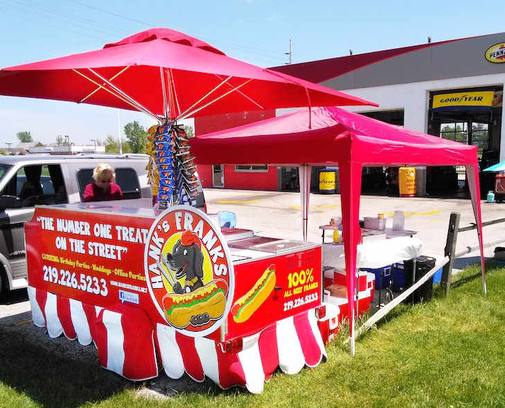 used four full size pan hot dog cart for sale