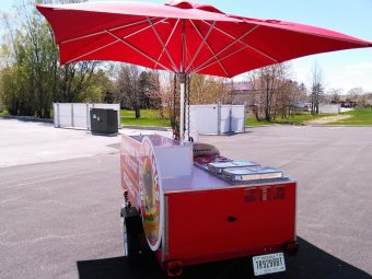used hot dog cart for sale four full size steam pans