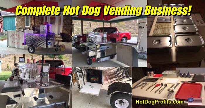Hot dog vending business for sale