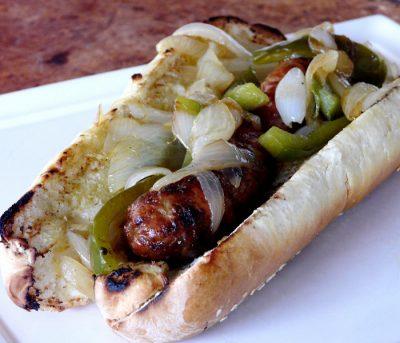 grilled hot dog sausage